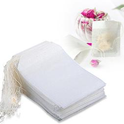 US 100-400 pcs Disposable Filter Drawstring Flip Empty Teaba