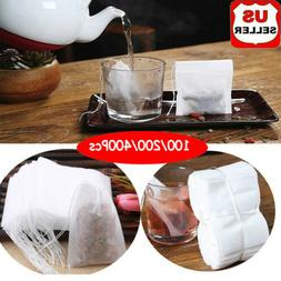 100-400X Empty Teabags String Heat Seal Filter Paper Herb Lo