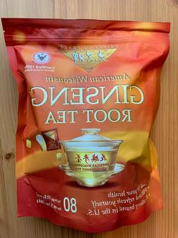 Prince of Peace 100% American Wisconsin Ginseng Root Tea, 80