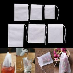 100Pcs Non-woven Empty Teabags String Heat Seal Filter Paper