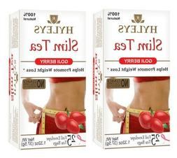 2 packs Hyleys Slim Tea Garcinia Cambogia Pomegranate Green
