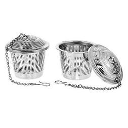 U.S. Kitchen Supply 2 Stainless Steel Tea Ball Strainer Infu