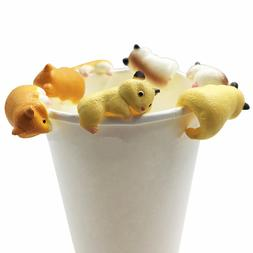 20pcs/set Cute Animals Hamster Shape Toys Doll For Mug <font