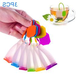 3 Pcs Tea Bag Strainers Herbal Infuser Filter Diffuser Kitch