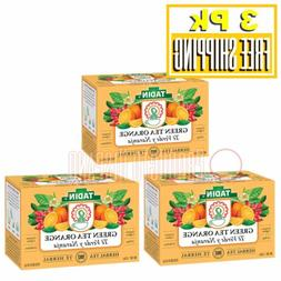3 Pk TADIN Green Tea Orange Spice 24 Bags Pack of 3