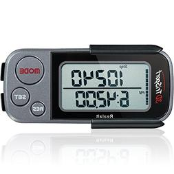 3DTriSport Walking 3D Pedometer with Clip and Strap, Free eB