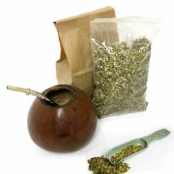 4 Pc Argentina Yerba Mate Kit Set Tea Gourd Cup Straw Bombil