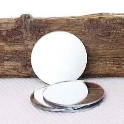4 x Round Coffee Tea Cup or Wine Glass Mirror Coaster Place