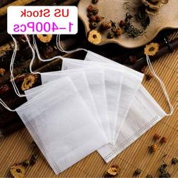400x empty teabags string heat seal filter