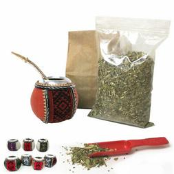 4Pc Yerba Mate Gourd Kit Argentina Tea Cup Straw Bombilla 6o