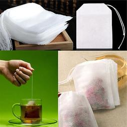 100X non-woven Empty Teabags String Heat Seal Filter Paper H