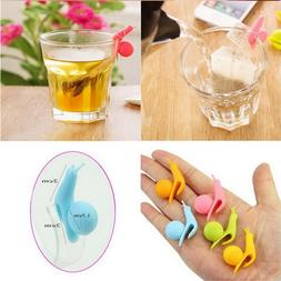 6pcs Colorful Silicone Small Snail Recognizer Device <font><