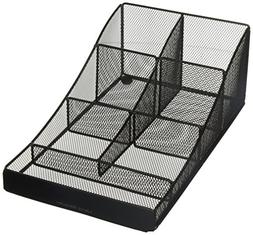 Mind Reader Metal Mesh 7 Compartment Coffee Condiment, Cups,