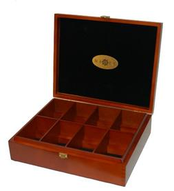 Stash Tea 8 Flavor Tea Chest  Wooden Display Chest for Bagge