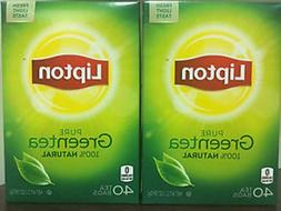 80 Lipton Pure GREEN TEA tea bags 100% natural fresh light t