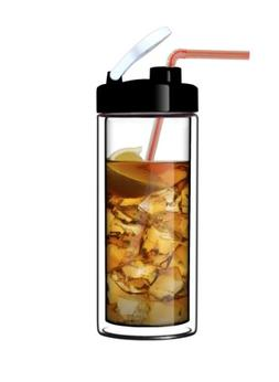 Glass Double-Wall Tumbler by Sun's Tea  | 18oz Travel Mug