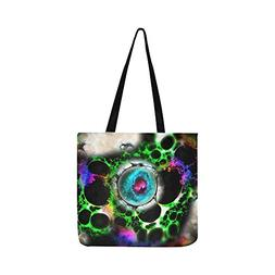 Psychedelic Trance Trippy Hypnotism Acid Green Canvas Tote H