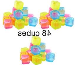 Reusable Plastic Ice Cubes - Colors May Vary