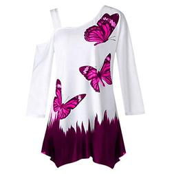 SMALLE ◕‿◕ Clearance,Women's Butterfly Print One Shoul