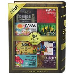 Teas of the World | 80 Tea Bags Featuring 8 Unique Flavors w