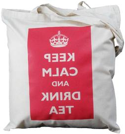 The Cotton Bag Store Ltd Keep Calm And Drink Tea Natural Cot