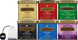 Twinings 6 Flavor Black Tea Variety 3.5 Ounce Tins - Include