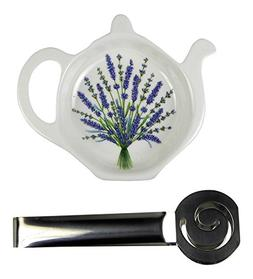 Adderley Bone China Tea Bag Coaster Caddy and Stainless Stee