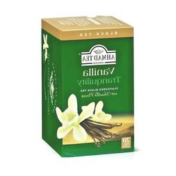 Ahmad Vanilla Tranquility Black tea 6 Boxes of 20 Tea Bags N