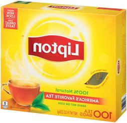 Lipton Black Tea Bags, America's Favorite Tea 100 ct, Pack o