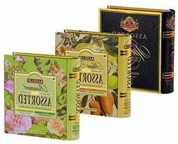 Basilur Assorted Tea Book Collection with Pure Ceylon Black/