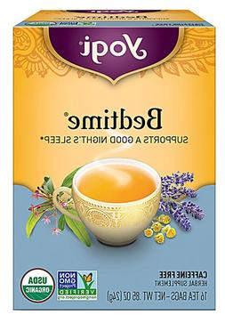 Yogi Tea, Bedtime, No Caffeine, 16 Tea Bags, .85 ounces