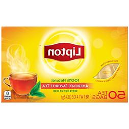 Lipton Black Tea Bags, America's Favorite Tea 50 ct, Pack of