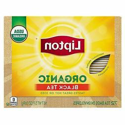 Lipton Black Tea Bags, Organic, 72 ct