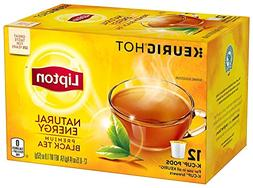 Lipton Premium Black K-cup pods, Hot or Iced Natural Energy,