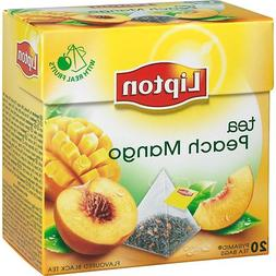 Lipton Black Tea - Peach Mango - Premium Pyramid Tea Bags