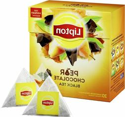 Lipton Pear Chocolate Flavor Tea Silk Pyramid 20 Bags