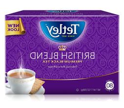 Tetley British Blend Premium Black, 80-Count Tea Bags, 7 Oun