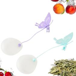 Butterfly Tea Bags Strainers Silicone Teaspoon Filter Infuse
