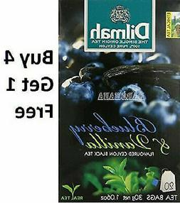 Buy 4 Get 1 Free Dilmah Blueberry and Vanilla 20 Tea Bags