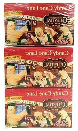 Candy Cane Lane Green Tea Decaf 20 Bags. 3 Pack by Celestial