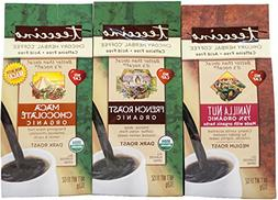Teeccino Chicory Herbal Coffee Variety Pack , Caffeine Free,