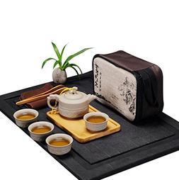 Hoobar Chinese / Japanese Kungfu Tea Set Portable Travel Tea