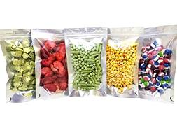 """Clear Front Resealable Mylar Bags - 5 Mil - 5"""" x 8"""" x 3"""" Gus"""