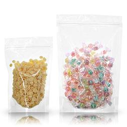 SumDirect Clear Zipper Resealable Stand Up Drink Bags Pouche