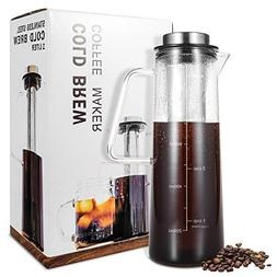 Cold Brew Iced Coffee Maker, TOP-MAX Iced Tea Maker 1.0L/34o