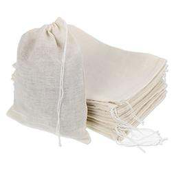 Pangda 30 Pack Cotton Muslin Bags Drawstring Bags, 7 by 5 In