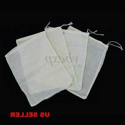 100pcs 4x6 Cotton Muslin Drawstring Reusable Bags Bath Soap