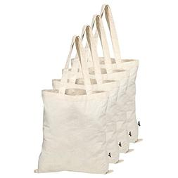 100% Cotton Tote Bags Eco-friendly Grocery Washable Laundry