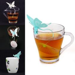 Cute Butterfly Tea Bags Strainers Filter Tea Infuser Silicon