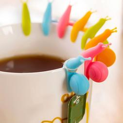 Cute Candy Colors 6 Pcs/Set Snail Shape Silicone For Mug <fo